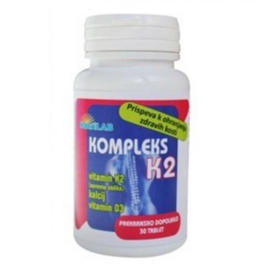 Nutrilab Kompleks K2, 30 tablet Prehrana in dopolnila