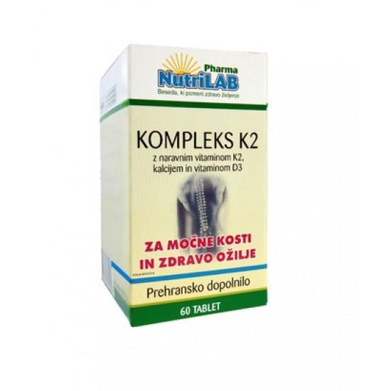 Nutrilab Kompleks K2, 60 tablet Prehrana in dopolnila