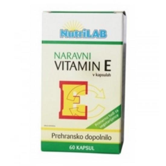 Nutrilab Naravni vitamin E, kapsule Prehrana in dopolnila