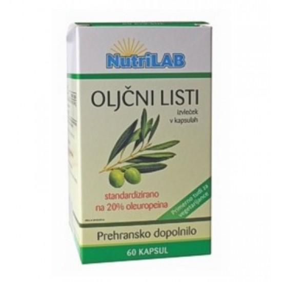 Nutrilab Oljčni listi, kapsule Prehrana in dopolnila