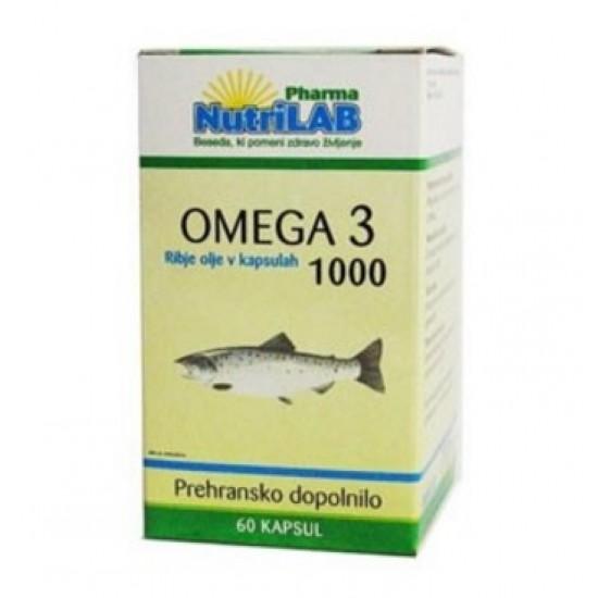 Nutrilab Omega 3 1000, kapsule Prehrana in dopolnila