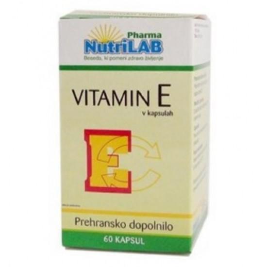 Nutrilab Vitamin E, kapsule Prehrana in dopolnila