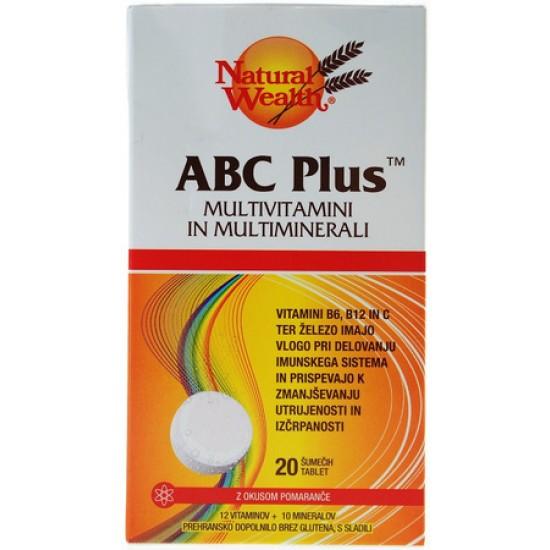Natural Wealth ABC PLUS, šumeče tablete Prehrana in dopolnila