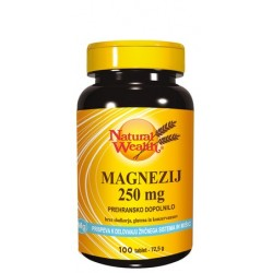 Natural Wealth Magnezij 250 mg, tablete