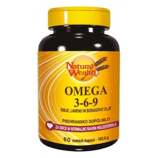Natural Wealth Omega 3-6-9, kapsule Prehrana in dopolnila