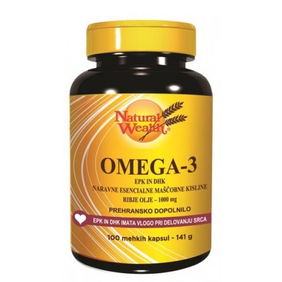 Natural Wealth Omega 3 EPK in DPK, kapsule Prehrana in dopolnila