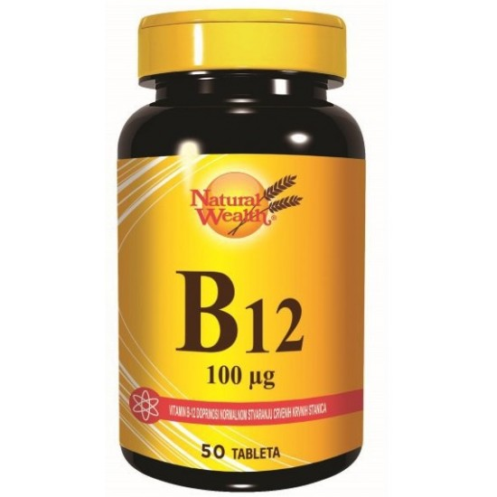 Natural Wealth Vitamin B12 100 mcg, tablete Prehrana in dopolnila