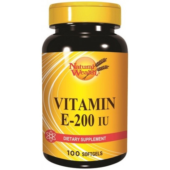 Natural Wealth Vitamin E 200 I.U, kapsule Prehrana in dopolnila
