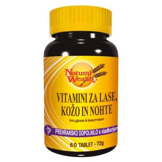 Natural Wealth Vitamini Za Lase, Kožo In Nohte, tablete Prehrana in dopolnila