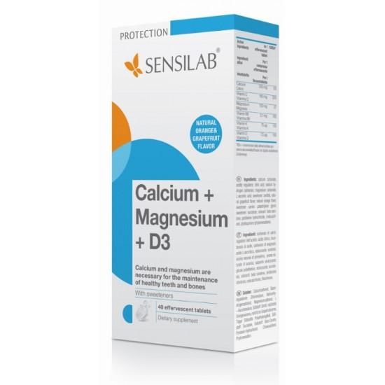 Sensilab Ca+Mg+vitamin D3, šumeče tablete Prehrana in dopolnila