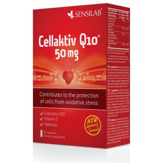 Sensilab Cellaktiv Q10 50 mg, kapsule Prehrana in dopolnila