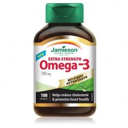 Jamieson Omega-3 Ekstra moč brez priokusa po ribah, kapsule