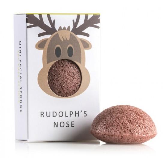 Mini Konjac gobica Rudolf - z dodatkom rdeče gline Kozmetika