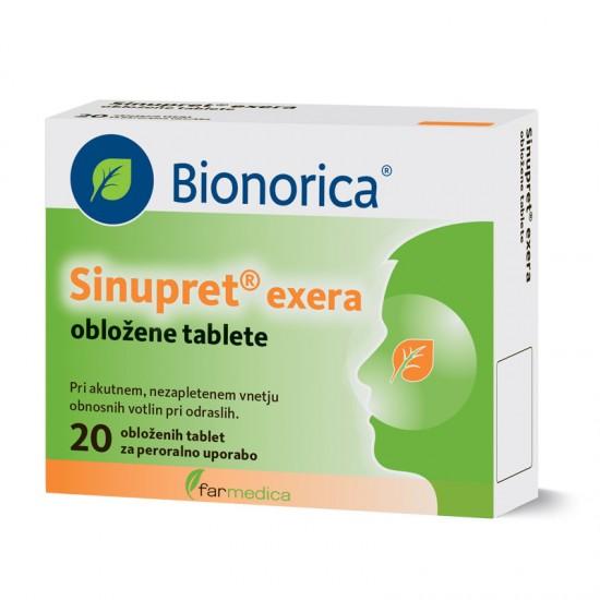 Sinupret Exera, obložene tablete Zdravila brez recepta