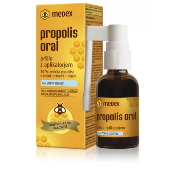 Medex, Propolis oral na vodni osnovi, pršilo z aplikatorjem Pripomočki in zaščita