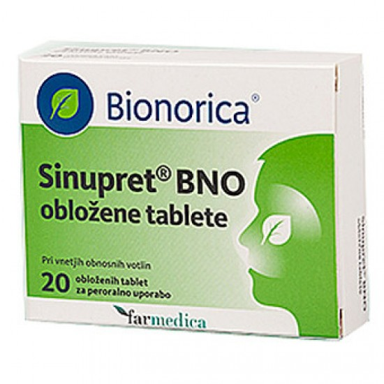 Sinupret BNO, obložene tablete Zdravila brez recepta