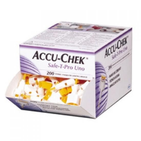 Accu-Chek Safe-T-Pro Uno, 200 lancet Pripomočki in zaščita