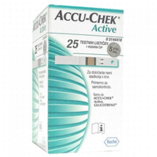 Accu-Chek Active, 25 testnih lističev Pripomočki in zaščita
