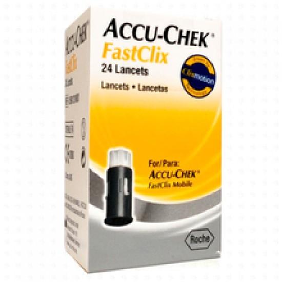 Accu-Chek Fastclix, 24 lancet v disku Pripomočki in zaščita