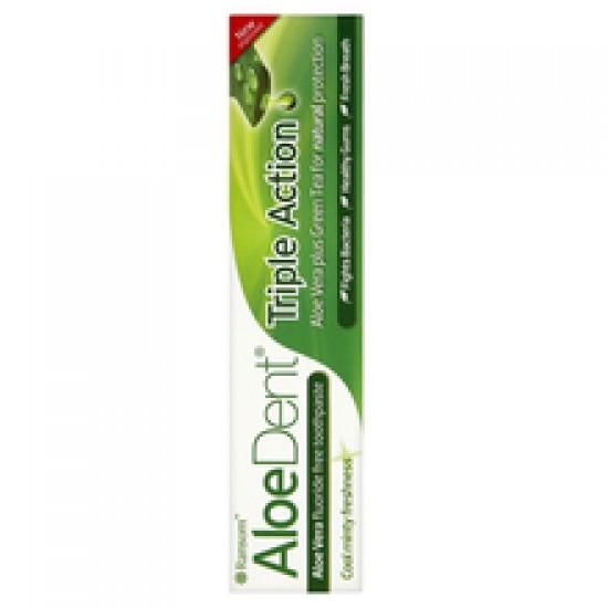 AloeDent Triple action, zobna krema s Q10 in čajevcem Kozmetika