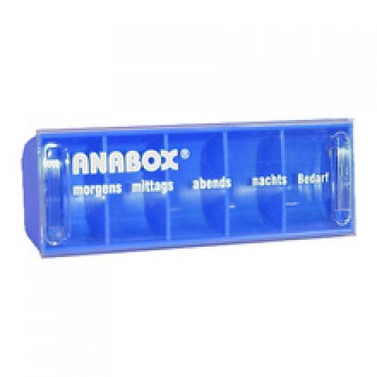 Anabox, dnevni vsebnik za zdravila - moder Dom