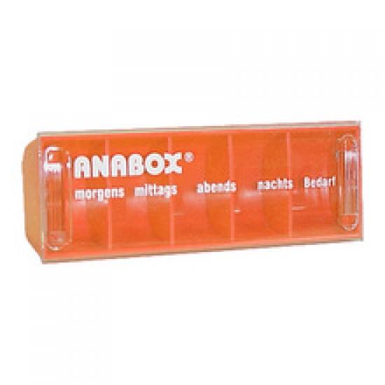 Anabox, dnevni vsebnik za zdravila - oranžen Dom