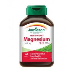 Jamieson Magnezij 500 mg + Vitamin D3, kapsule