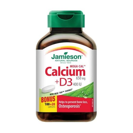 Jamieson Mega Kalcij + Vitamin D3, tablete Prehrana in dopolnila