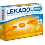 Lekadol Combo 500 mg/12,2 mg, prašek za peroralno raztopino, 20 vrečk