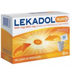 Lekadol plus C 500 mg/300 mg, zrnca za peroralno raztopino, 20 vrečk