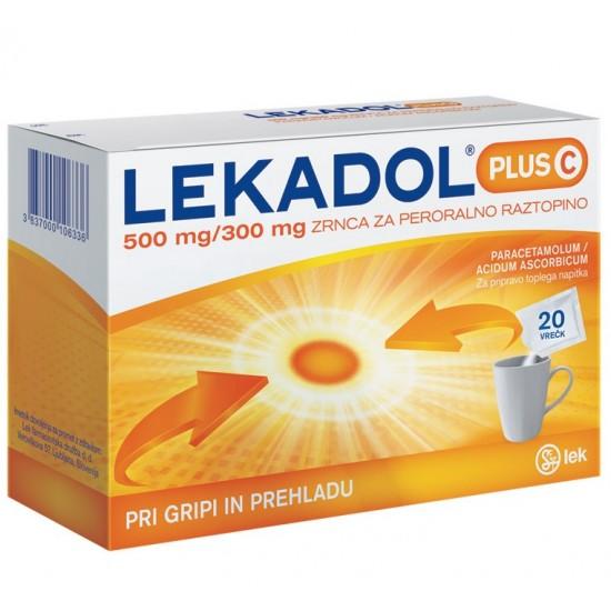 Lekadol plus C, zrnca za pripravo napitka - 20 vrečk Zdravila brez recepta
