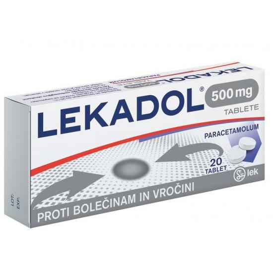Lekadol 500 mg, 20 tablet Zdravila brez recepta