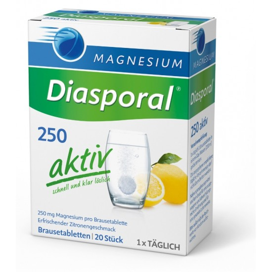 Magnesium - Diasporal 250 mg Aktiv, šumeče tablete Prehrana in dopolnila