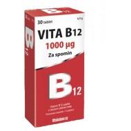 Vita B12 1000 mcg,  30 žvečljivih tablet