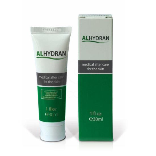 Alhydran, negovalna gel-krema Pripomočki in zaščita