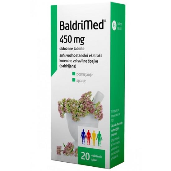 Baldrimed, 20 obloženih tablet Zdravila brez recepta