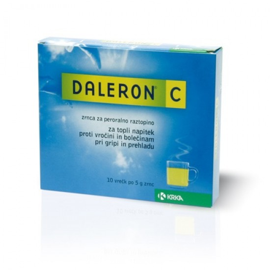 Daleron C, zrnca za peroralno raztopino, 10 vrečk Zdravila brez recepta