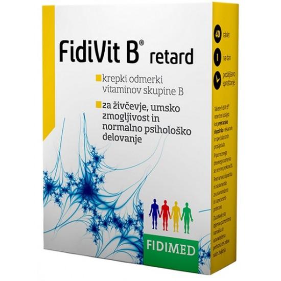 FidiVit B retard, obložene tablete Prehrana in dopolnila