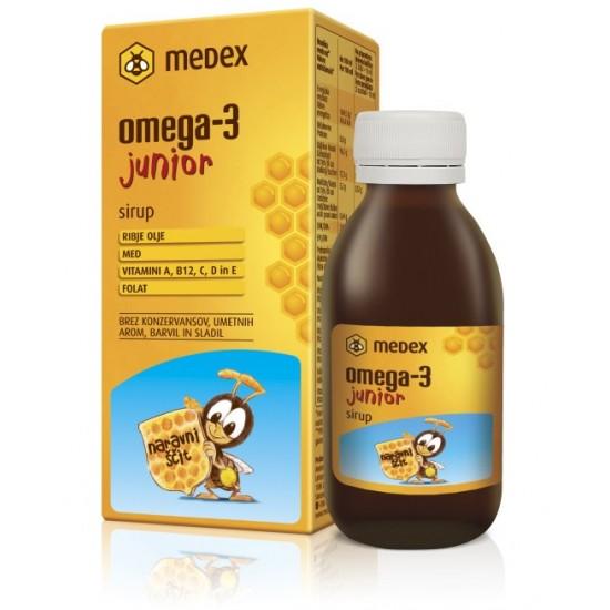 Medex, Omega-3 junior, sirup Prehrana in dopolnila
