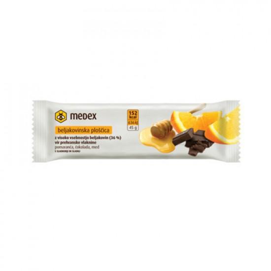 Medex, beljakovinska ploščica - pomaranča, čokolada, med Prehrana in dopolnila