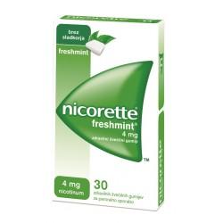 Nicorette Freshmint 4 mg, zdravilni žvečilni gumiji
