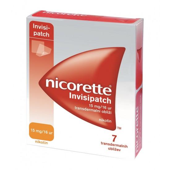 Nicorette Invisipatch 15 mg/16 ur, transdermalni obliži Zdravila brez recepta