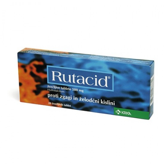 Rutacid, 20 žvečljivih tablet Zdravila brez recepta