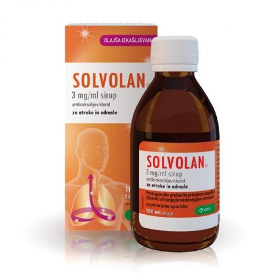 Solvolan, sirup Zdravila brez recepta