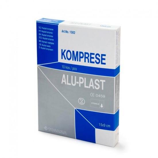 Aluplast extra, komprese za prvo pomoč 15 x 9 Pripomočki in zaščita