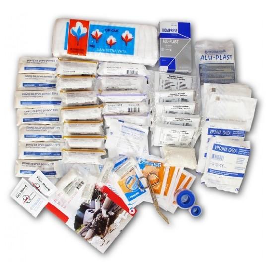 Rezervni komplet za omarico/kovček za prvo pomoč Pripomočki in zaščita
