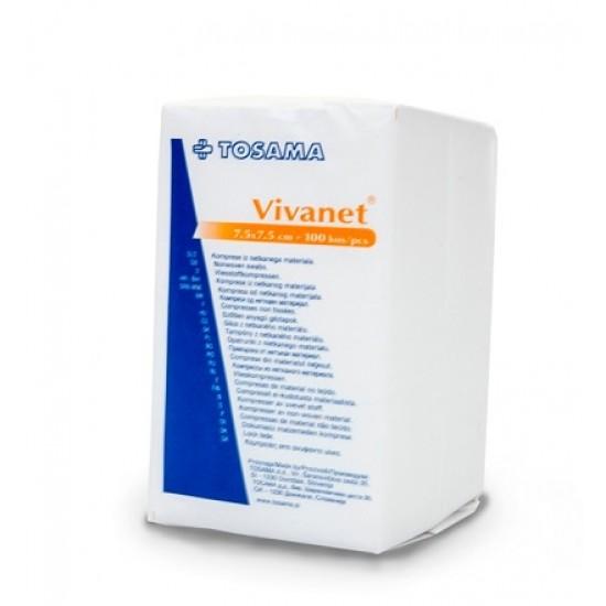 Vivanet netkana kompresa 7,5 x 7,5 cm, 6 slojni, 100 kos Pripomočki in zaščita