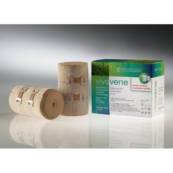 Vivavene dolgoelastični kompresijski povoj 10 cm x 10 m, 2 povoja Pripomočki in zaščita
