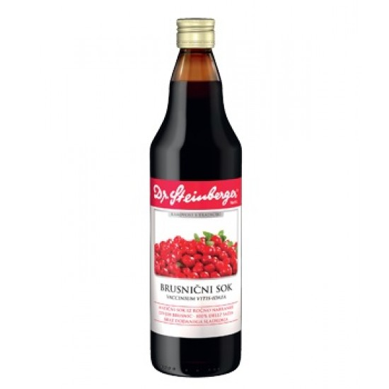 Dr. Steinberger, Brusnični sok Prehrana in dopolnila