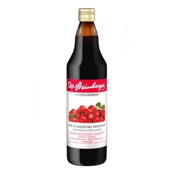 Dr. Steinberger, Sok iz ameriške brusnice - 750 ml Prehrana in dopolnila
